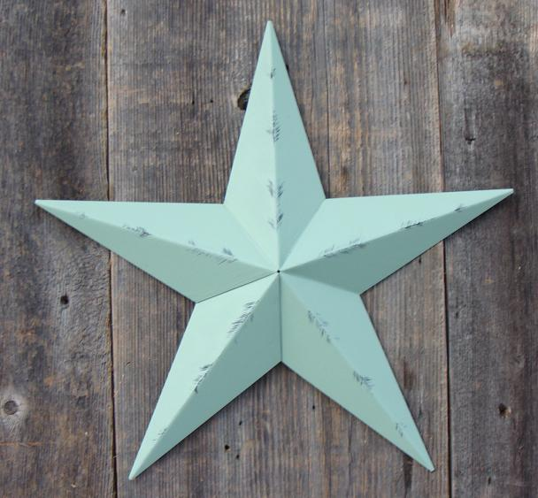 Rustic Sage Metal Tin Barn Star – Made in the USA!