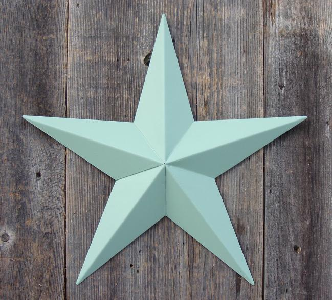 Solid Sage Metal Tin Barn Star – Made in the USA!