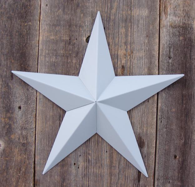 Solid Gray Metal Tin Barn Star – Made in the USA!
