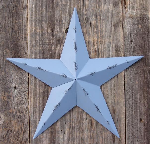 Rustic Country Blue Metal Tin Barn Star – Made in the USA!