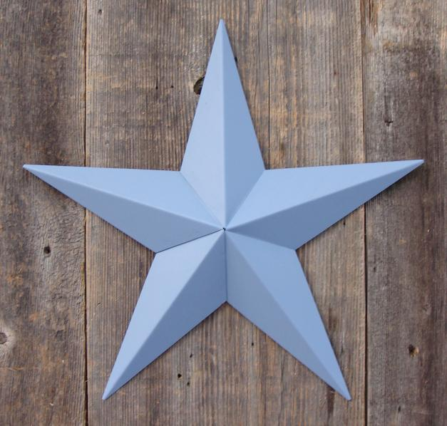 Solid Country Blue Metal Tin Barn Star – Made in the USA!