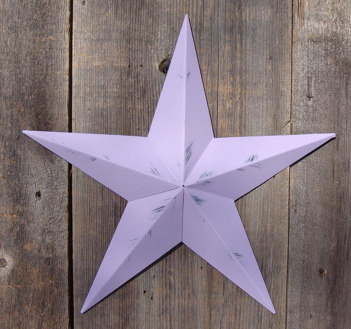 Rustic Violet Metal Tin Barn Star – Made in the USA!