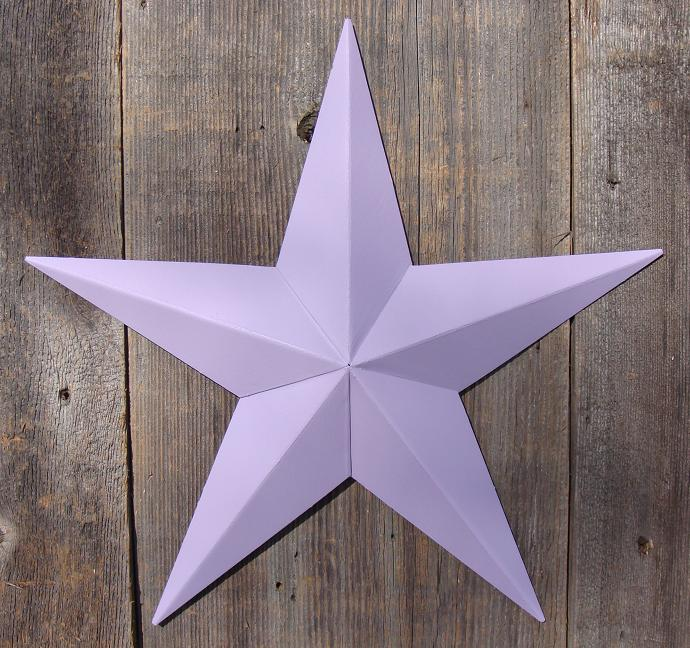 Solid Violet Metal Tin Barn Star – Made in the USA!