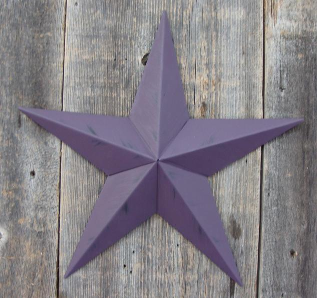 Rustic Blackberry Metal Tin Barn Star – Made in the USA!