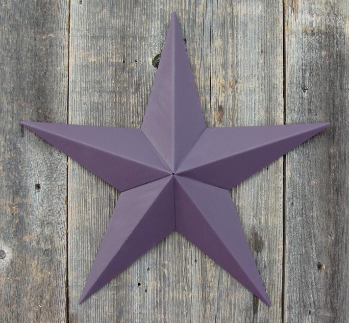 Solid Blackberry Metal Tin Barn Star – Made in the USA!