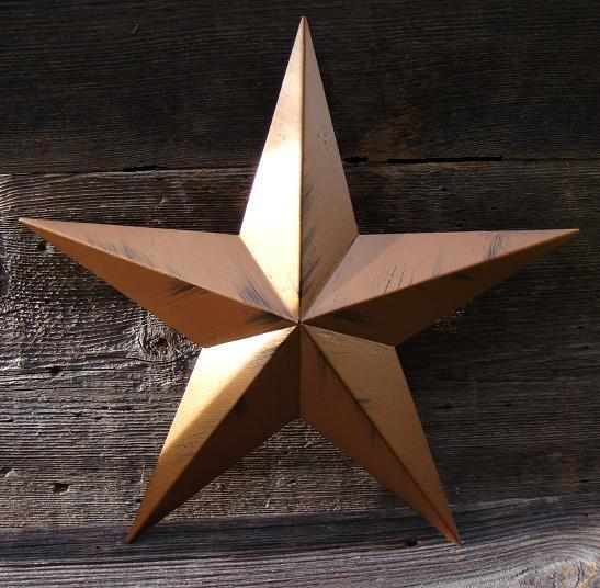 Rustic Antique Bronze Metal Tin Barn Star – Made in the USA!