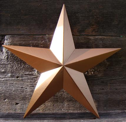 Solid Antique Bronze Metal Tin Barn Star � Made in the USA!