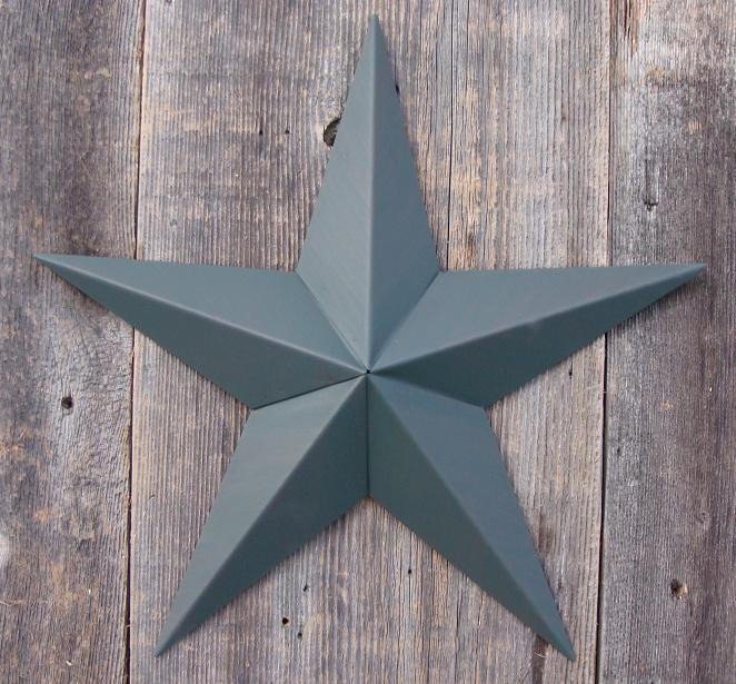 Solid Green Metal Tin Barn Star – Made in the USA!
