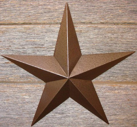 Rustoleum hammered brown heavy duty 22 gauge Amish barn star