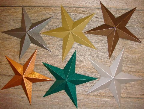 Hammered Textured Metallic Barn Stars In A Variety Of Colors