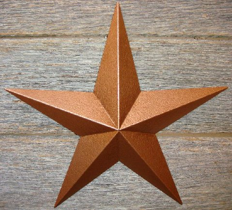 Rustoleum hammered copper heavy duty 22 gauge Amish barn star
