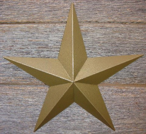 Metallic Rustoleum Hammered Gold Heavy Duty Metal Tin Barn Star � Made in the USA!