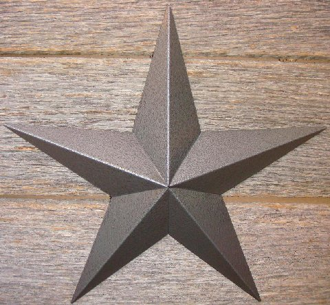 Metallic Rustoleum Hammered Gray or Pewter Heavy Duty Metal Tin Barn Star � Made in the USA!