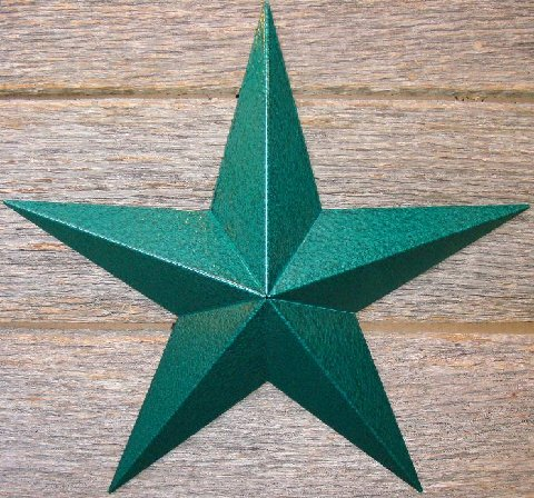 Metallic Rustoleum Hammered Green Heavy Duty Metal Tin Barn Star � Made in the USA!