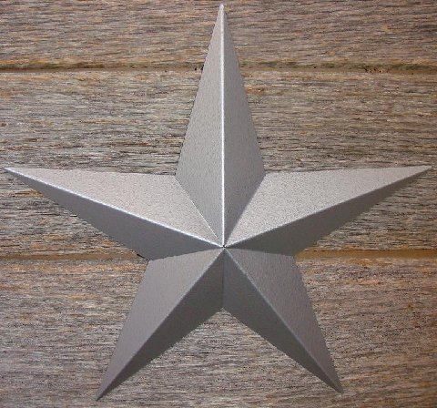 Metallic Rustoleum Hammered Silver Heavy Duty Metal Tin Barn Star � Made in the USA!